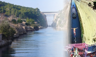 Korinth canal and bungee jumping